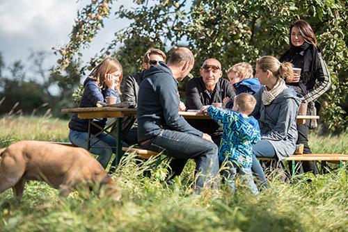 Simon Horn und Leon Joskowitz kochen auf der Streuobstwiese am Lohrberg Apfelmuus und braten Reibekuchen, aufgenommen am Sonntag (02.10.2016) in Frankfurt am Main. Foto: Salome Roessler